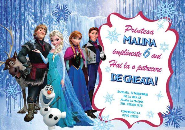 Invitatie Elsa, zi de nastere, pentru fata