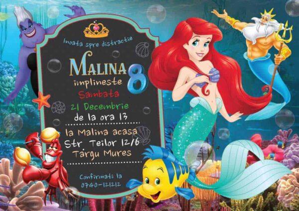 Invitatie Ariel, zi de nastere, pentru fata