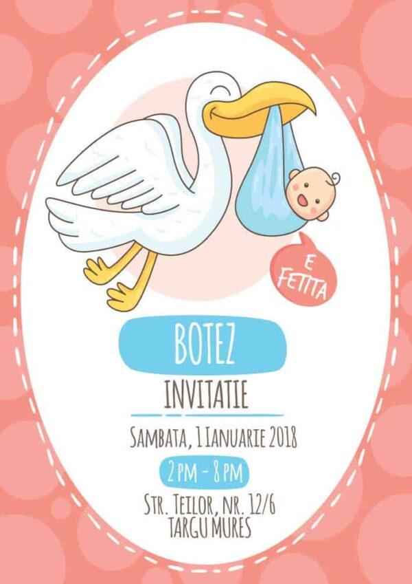 Invitatie botez, tema barza, pentru baiat sau fata