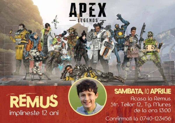 Invitatie Apex Legends, zi de nastere