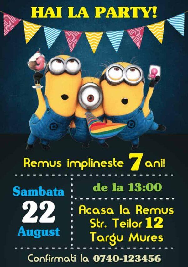 Invitatie Minioni, zi de nastere