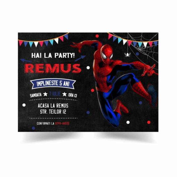 Invitatie Spiderman, zi de nastere